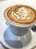 Bella arte del Latte Immagini Stock