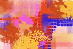 Bella arte original del fondo del diseño del arte moderno de la tela escocesa del extracto de la pintura libre illustration