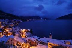 Bella attrazione blu di crepuscolo di notte fotografia stock libera da diritti