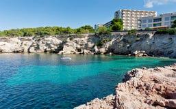 Bella baia del turchese a Ibiza Fotografia Stock Libera da Diritti