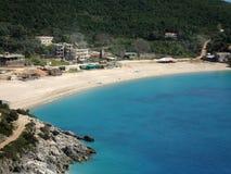 Bella baia di Jali, Albania del sud fotografie stock