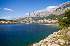 Bella baia di Makarska, Croazia Fotografia Stock Libera da Diritti