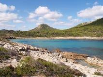 Bella baia in Mallorca, Spagna Fotografia Stock Libera da Diritti