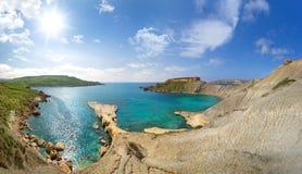 Bella baia a Malta, Gozo Fotografia Stock