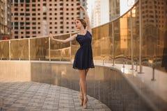Bella ballerina del ballerino di balletto all'aperto Fotografia Stock Libera da Diritti
