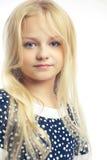 Bella bambina con capelli lunghi Fotografia Stock