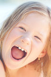 Bella bambina esterna Fotografie Stock