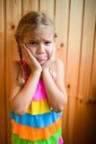 Bella bambina triste Fotografie Stock