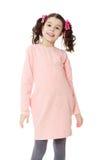 Bella bambina in un vestito rosa Fotografia Stock
