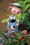 Bella bambola fatta a mano del metallo fotografie stock