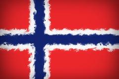 Bella bandiera della Norvegia illustrazione vettoriale