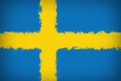 Bella bandiera della Svezia illustrazione di stock