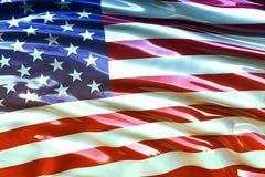 Bella bandiera di U.S.A. che ondeggia nel vento Immagine Stock Libera da Diritti