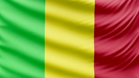 Bella bandiera realistica 4k del Mali stock footage