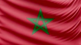 Bella bandiera realistica 4k del Marocco illustrazione vettoriale