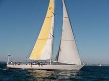 Bella barca a vela di Kialoa III alla tazza San Francisco 2015 di Rolex Fotografia Stock Libera da Diritti