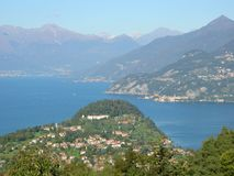 bella Bellagio su panorama di Como Italia del lago Immagine Stock Libera da Diritti