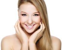 Bella bionda sorridente Fotografia Stock