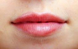 Bella bocca di una donna fotografia stock