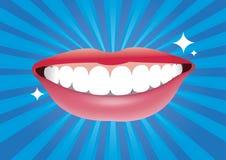Bella bocca sorridente con buon sano Fotografia Stock Libera da Diritti