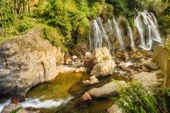 Bella caduta dell'acqua di Tien Sa in SAPA, il Vietnam Fotografie Stock Libere da Diritti