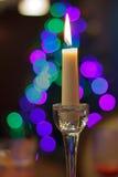 Bella candela in un interno Fotografie Stock Libere da Diritti