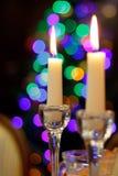 Bella candela in un interno Immagine Stock