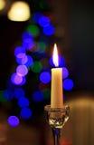 Bella candela in un interno Fotografia Stock