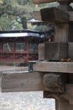 Bella carpenteria giapponese su un santuario che costruisce Tokyo, Giappone Fotografie Stock Libere da Diritti