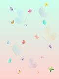 Bella carta da parati della farfalla della spruzzata variopinta di estate Illustrazione stratificata di vettore Fotografia Stock Libera da Diritti