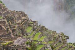 Bella carta da parati di Machu Picchu e nuvole sulle Ande Nessuna gente Immagine Stock Libera da Diritti