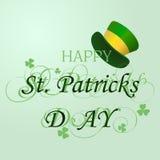 Bella cartolina al giorno di St Patrick Vettore Fotografia Stock