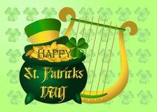 Bella cartolina al giorno di St Patrick Vettore Fotografia Stock Libera da Diritti