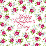 Bella cartolina d'auguri floreale per Valentine Day Immagine Stock Libera da Diritti