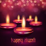 Bella cartolina d'auguri per l'illustrazione felice indù del fondo di festival di diwali di Diwali di festival di comunità Fotografia Stock Libera da Diritti