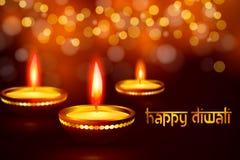 Bella cartolina d'auguri per l'illustrazione felice indù del fondo di festival di diwali di Diwali di festival di comunità Fotografia Stock