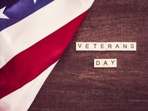 Bella cartolina d'auguri sulla giornata dei veterani Preparazione per la festa fotografie stock libere da diritti