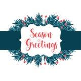 Bella cartolina di Natale illustrazione vettoriale