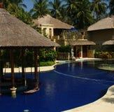 Bella casa del poolside Immagine Stock Libera da Diritti