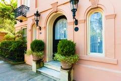 Bella casa del sud in Charleston South Carolina fotografia stock