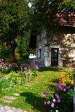 Bella casa della pietra del paese Fotografia Stock Libera da Diritti