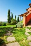 Bella casa di campagna in Toscana, Italia Fotografia Stock Libera da Diritti