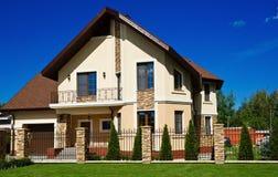 Bella casa moderna Fotografie Stock Libere da Diritti