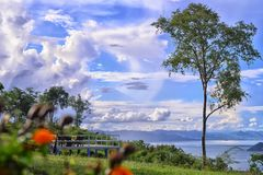 Bella casa in natura vicino al fiume Kwai, Kanchanaburi Fotografia Stock Libera da Diritti