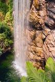 Bella cascata alta Fotografia Stock