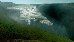 Bella cascata di Gullfoss archivi video