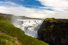 Bella cascata di Gullfoss in Islanda Fotografia Stock Libera da Diritti