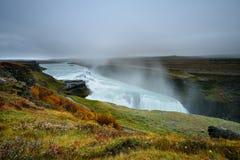 Bella cascata di Gullfoss in Islanda Fotografia Stock