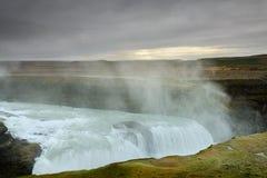 Bella cascata di Gullfoss in Islanda Immagini Stock Libere da Diritti