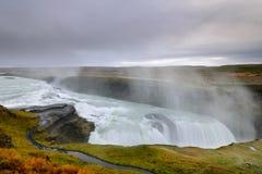 Bella cascata di Gullfoss in Islanda Fotografie Stock Libere da Diritti